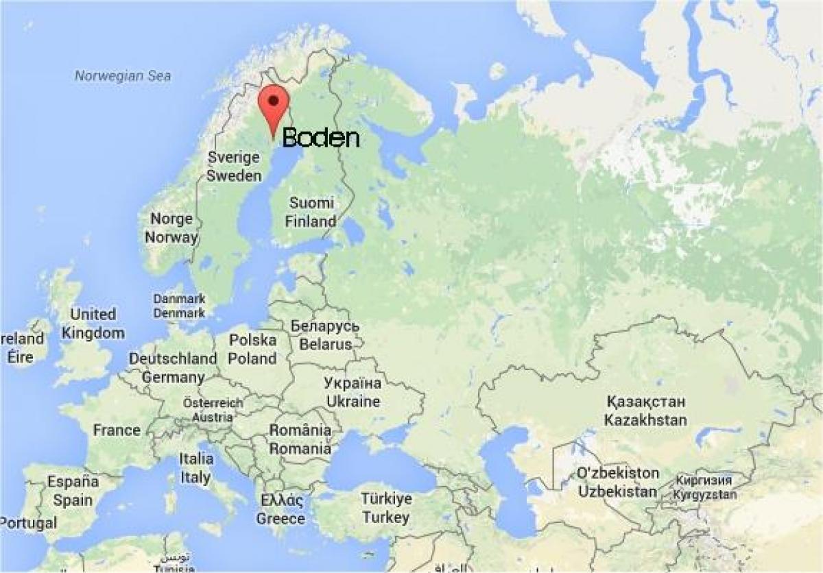 kart over boden sverige Boden, Sverige kart   Kart over Boden i Sverige (Nord Europa   Europa) kart over boden sverige