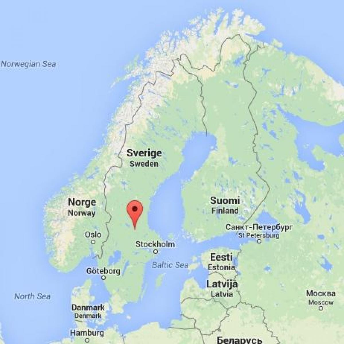 sverige kart falun Falun Sverige kart   Kart over Falun i Sverige (Nord Europa   Europa) sverige kart falun