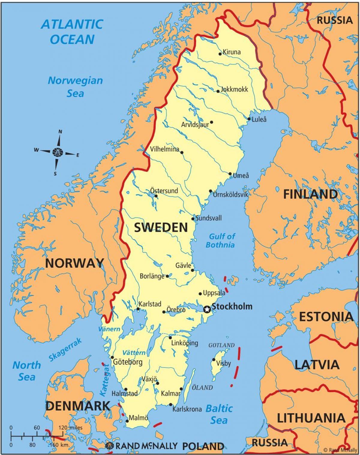 kart over småland sverige Kart over Sverige   Sverige på et kart (Nord Europa   Europa) kart over småland sverige