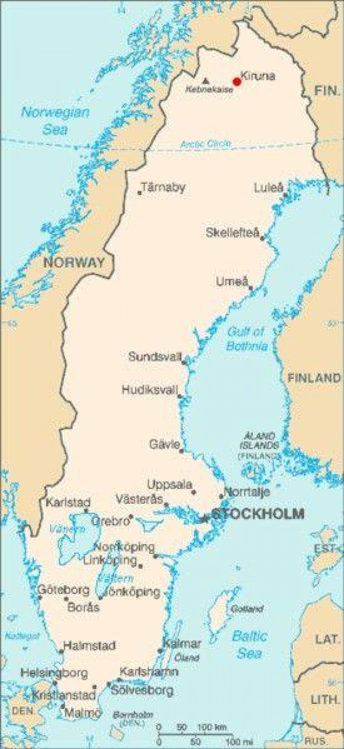 kart over nord europa Kiruna i Sverige kart   Kart over Kiruna i Sverige (Nord Europa  kart over nord europa