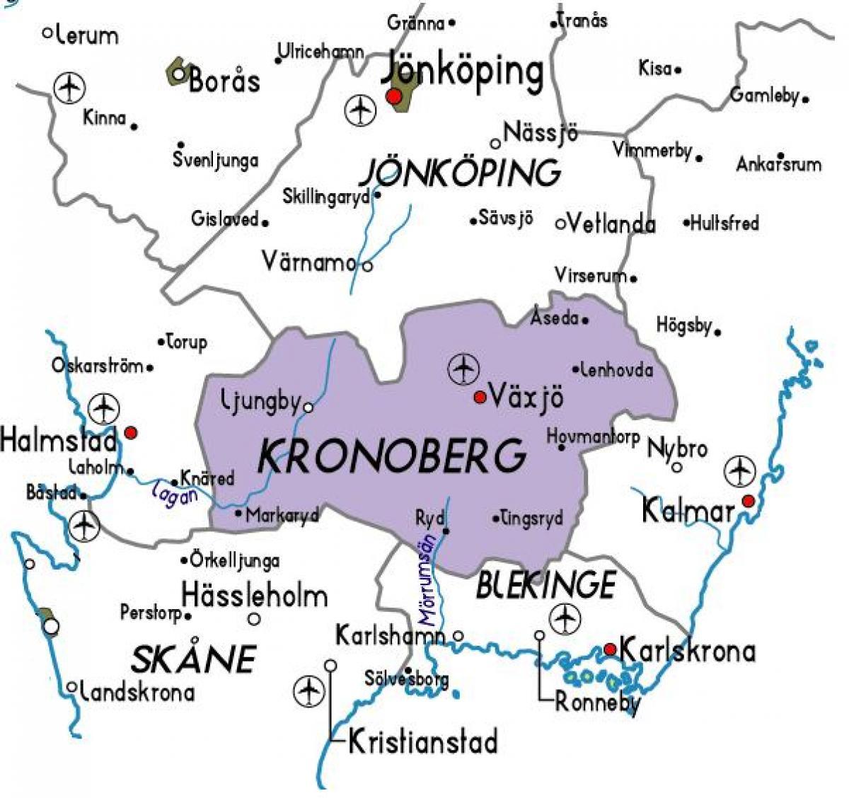 båstad sverige kart Kronoberg, Sverige kart   Kart over Kronoberg, Sverige (Nord  båstad sverige kart
