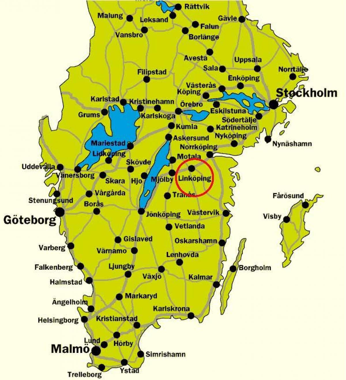 kart over sverige syd Sør Sverige kart   Kart over sør Sverige (Nord Europa   Europa) kart over sverige syd