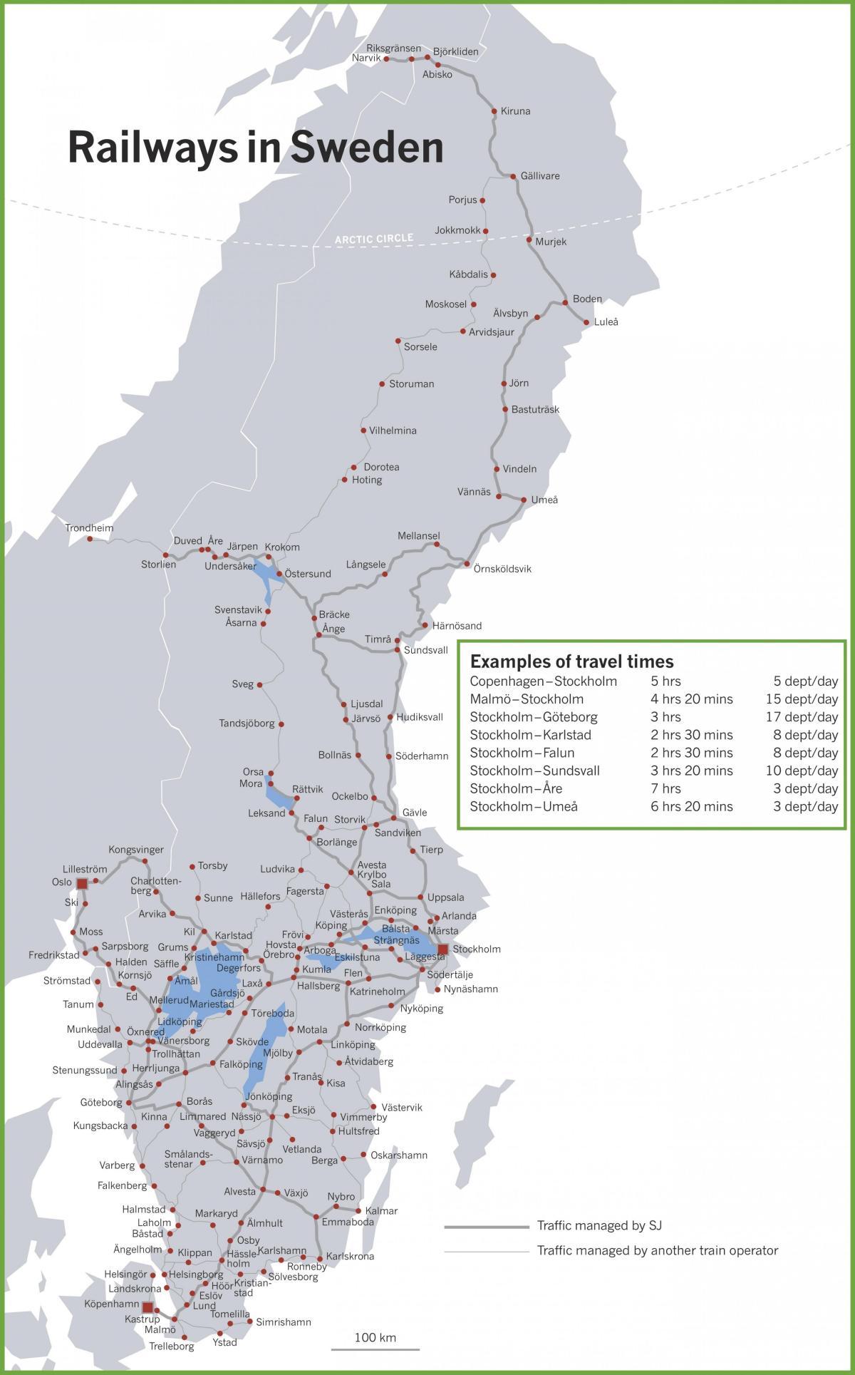 tog i europa kart Sverige tog kart   Tog kart Sverige (Nord Europa   Europa) tog i europa kart