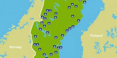 kart over camping i sverige Camping Sverige kart   Sverige camping kart (Nord Europa   Europa) kart over camping i sverige