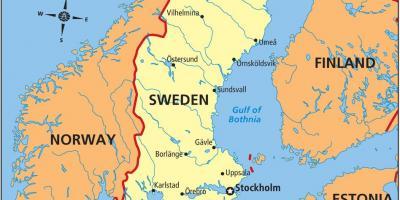 Karlskrona Sverige Kart Kart Over Karlskrona I Sverige Nord