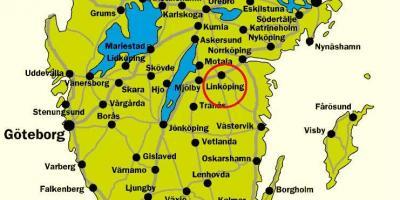 falkenberg sverige kart Sør Sverige kart   Kart over sør Sverige (Nord Europa   Europa) falkenberg sverige kart