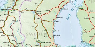 jernbane sverige kart Sverige jernbane kart   Rail kart over Sverige (Nord Europa   Europa) jernbane sverige kart
