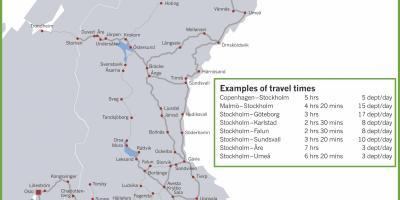 tog sverige kart Sverige tog kart   Tog kart Sverige (Nord Europa   Europa) tog sverige kart